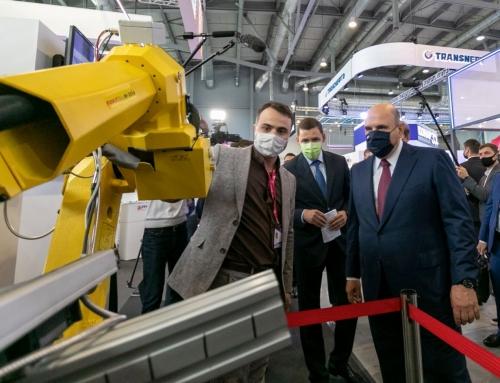 Премьер Мишустин, министры Мантуров, Силуанов и Решетников посетили стенд Геомера на Иннопром 2021